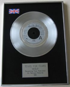 TEARS FOR FEARS - SHOUT PLATINUM single presentation DISC